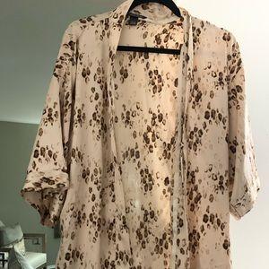 Victoria's Secret leopard kimono bathrobe
